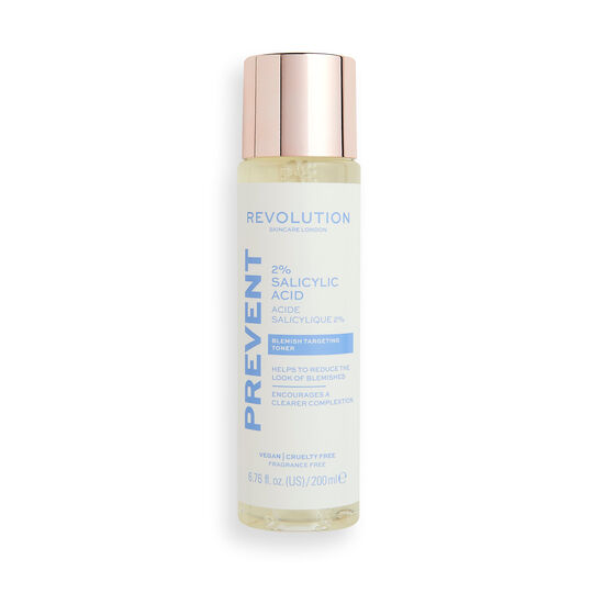 Revolution Skincare 2% Salicylic Acid BHA Anti Blemish Liquid Exfoliant Toner