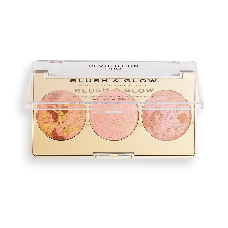 Revolution Pro Blush & Glow Face Palette Peach Glow