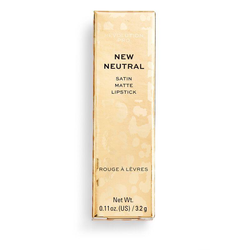 New Neutral Satin Matte Lipstick Stiletto