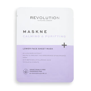 Revolution Skincare Maskcare Maskne Calming & Purifying Lower Face Sheet Mask