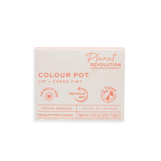 Planet Revolution Colour Pot Lip & Cheek Tint Peach Breeze