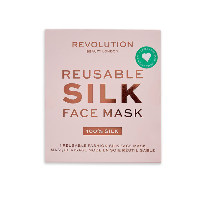 Makeup Revolution Re-useable Fashion Silk Face Coverings Pink