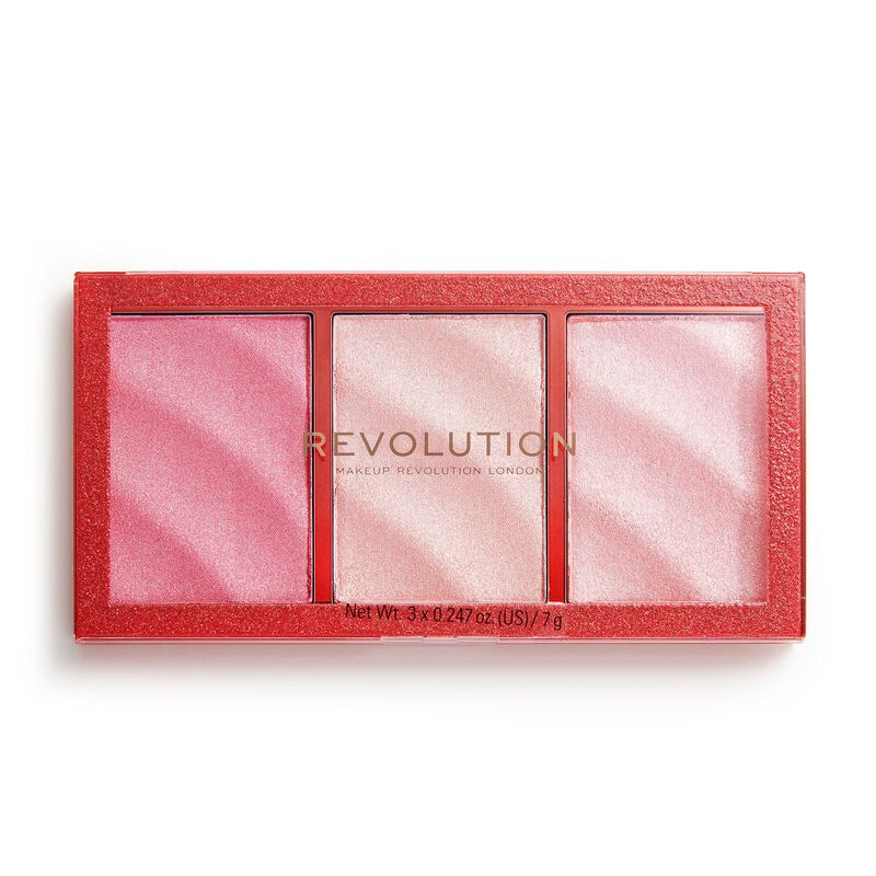 Makeup Revolution Precious Stone Highlighter Palette Ruby Crush