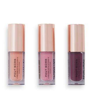 Makeup Revolution Sweet Candy Mini Pout Bomb Lip Gloss Set