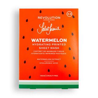 Revolution Skincare x Jake Jamie Watermelon Printed Hydrating Sheet Mask Set