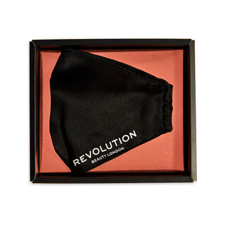Makeup Revolution Re-useable Fashion Silk Face Coverings Black