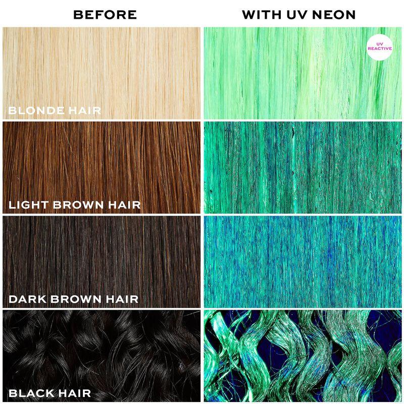 UV Neon Yellow Hair Make Up