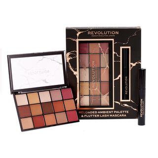 Makeup Revolution Reloaded Ambient Palette & Flutter Lash Mascara Gift Set