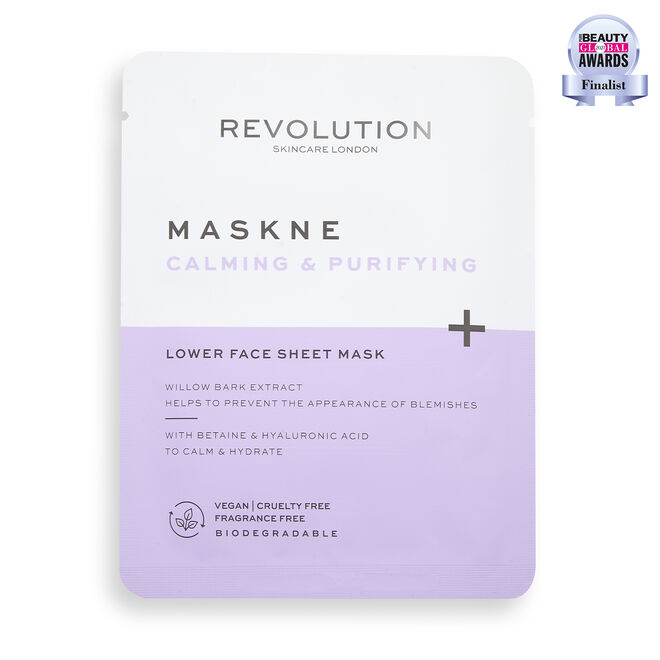 Revolution Skincare Maskcare Maskne Calming & Purifying Lower Face Sheet Mask