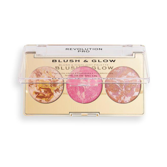 Revolution Pro Blush & Glow Face Palette Rose Glow
