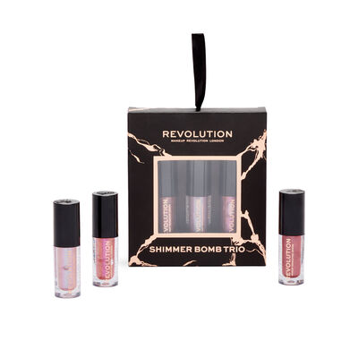 Makeup Revolution Shimmer Bomb Lip Trio Gift Set