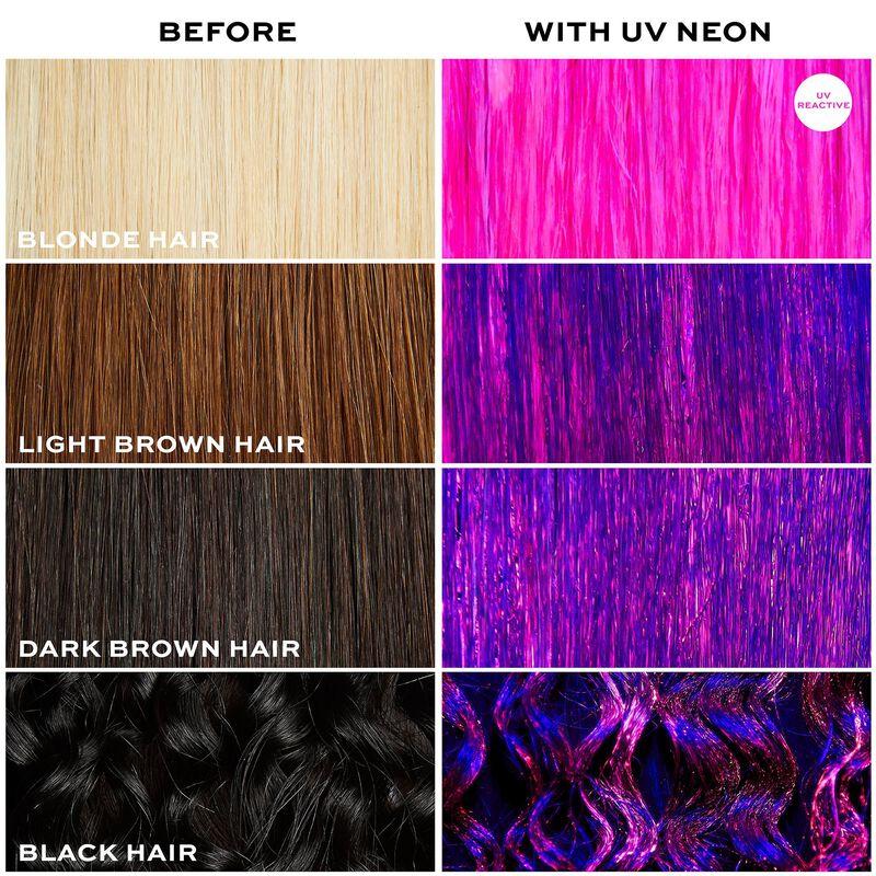 UV Neon Pink Hair Make Up