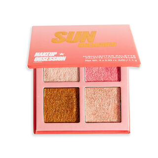 Makeup Obsession Glow Crush Highlighter Palette Sun Drenched