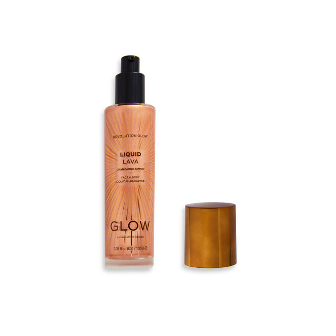 Makeup Revolution Glow Liquid Lava Highlighter Champagne Sippin