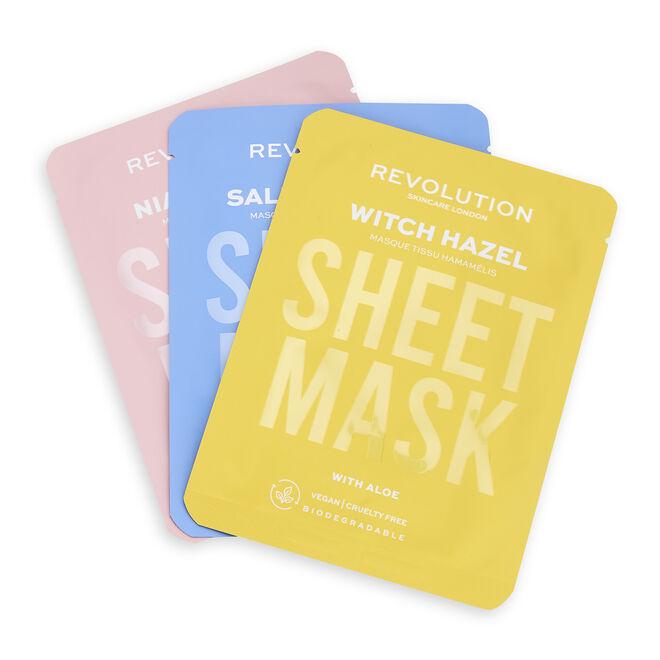 Revolution Skincare Blemish Prone Skin Biodegradable Sheet Mask
