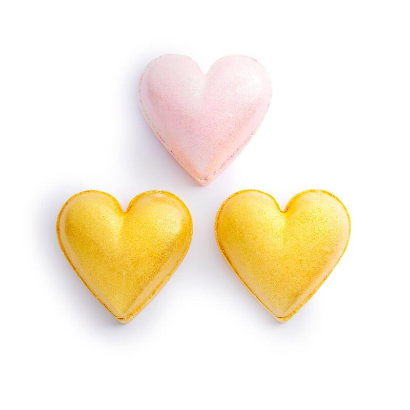 Metallic Heart Fizzer Kit