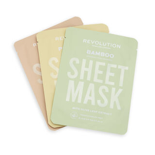 Revolution Skincare Biodegradable Dry Skin Sheet Mask 3 Pack