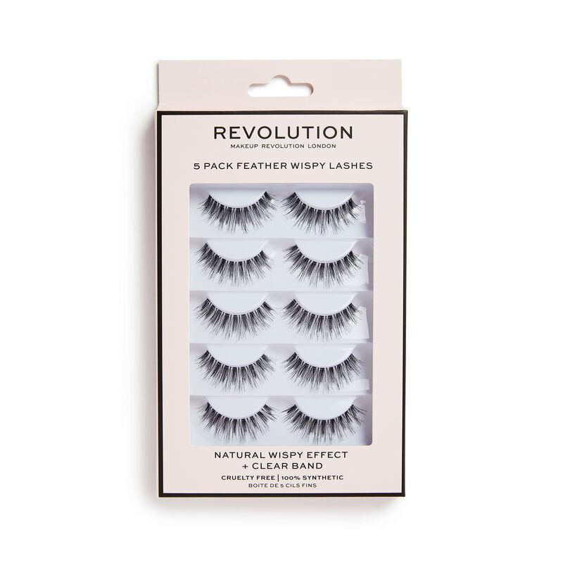5 Pack Feather Wispy Lashes