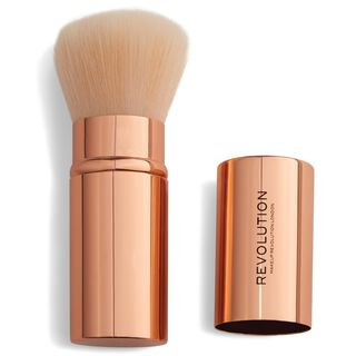 Rose Gold Retractable Kabuki Brush