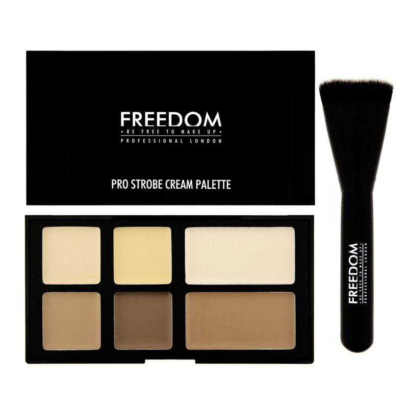 Pro Cream Strobe Palette with Brush