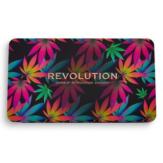 Forever Flawless Chilled Shadow Palette with cannabis sativa
