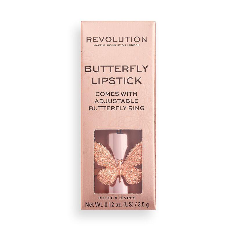 Makeup Revolution Precious Glamour Butterfly Lipstick Extra Fancy