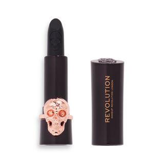 Makeup Revolution Midnight Kiss Skull Lipstick