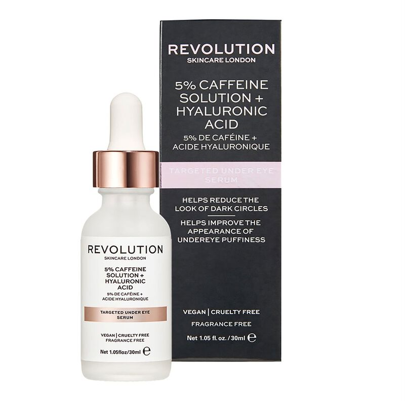 Revolution Skincare Targeted Under Eye Serum - 5% Caffeine + Hyaluronic Acid Serum
