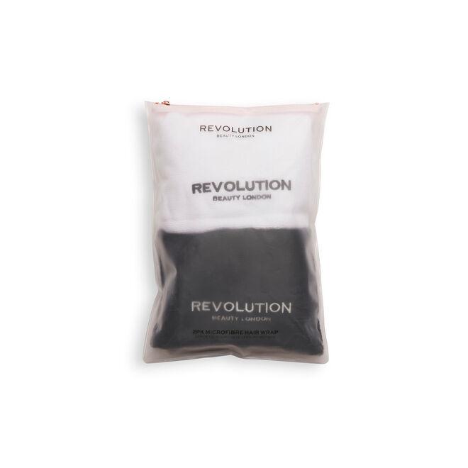 Revolution Haircare Microfibre Hair Wrap Black & White