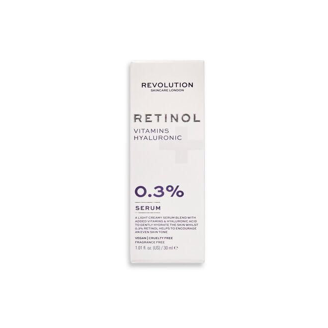 Revolution Skincare 0.3% Retinol with Vitamins & Hyaluronic Acid Serum