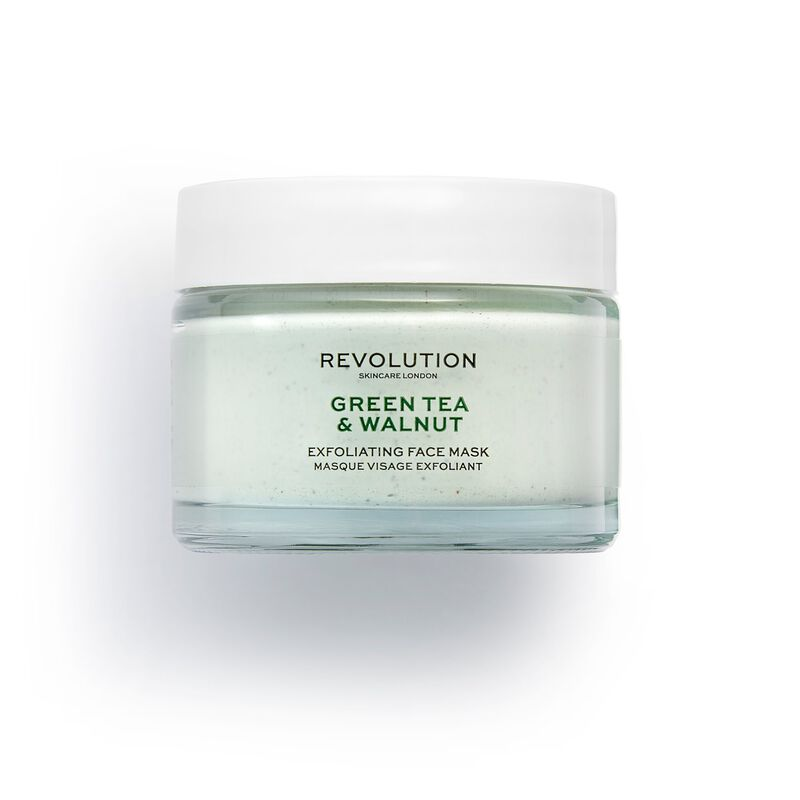 Green Tea & Walnut Exfoliating Face Mask