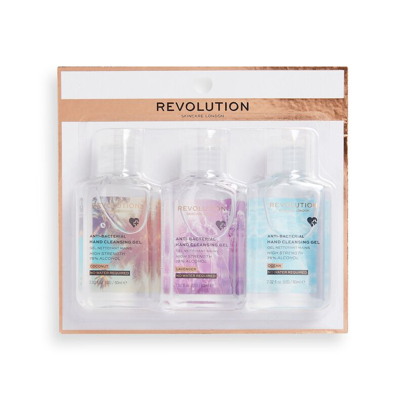 Revolution Skincare Hand Cleansing Gel 60ml 3 Pack