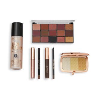 Makeup Revolution Illuminate & Glow Gold Set