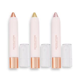Makeup Revolution Soft Glamour Shimmer Shadow Stick Set