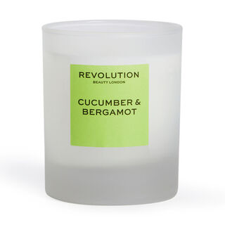 Revolution Home Cucumber & Bergamot Scented Candle