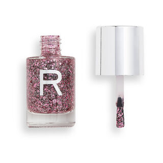 Makeup Revolution Glitter Crush Nail Polish Pink Dream Kiss