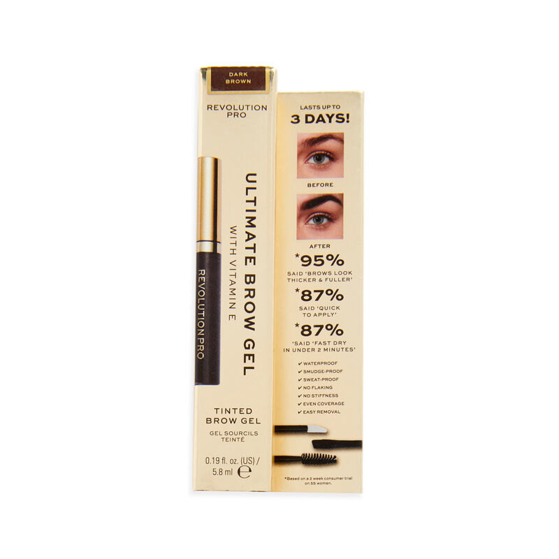 Revolution Pro Ultimate Brow Gel Dark Brown