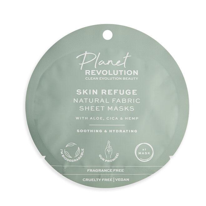 Planet Revolution Skin Refuge Soothing & Hydrating Fabric Sheet Masks