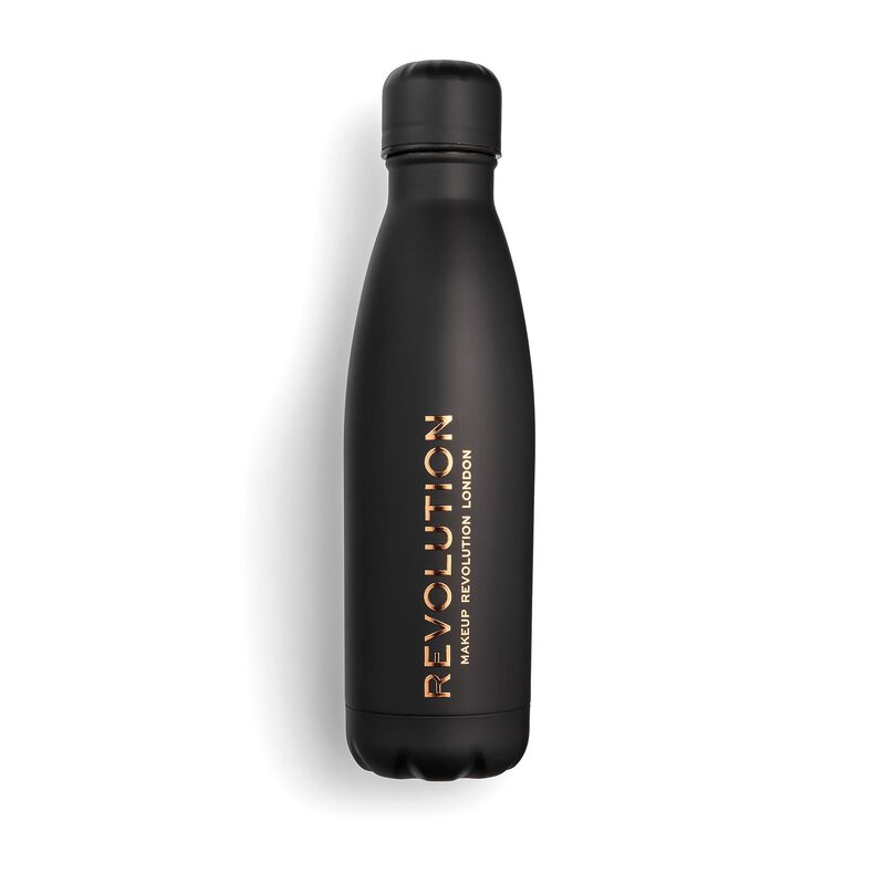 Water Bottle Black Soft Touch