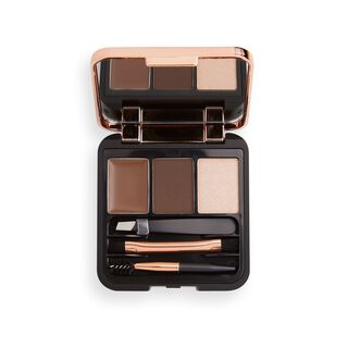 Makeup Revolution Brow Sculpt Kit Dark Brown