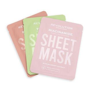 Revolution Skincare Biodegradable Oily Skin Sheet Mask 3 Pack