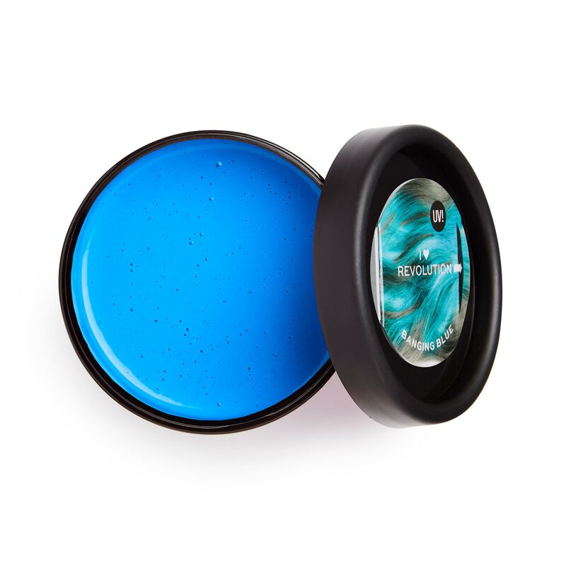 UV Neon Blue Hair Make Up