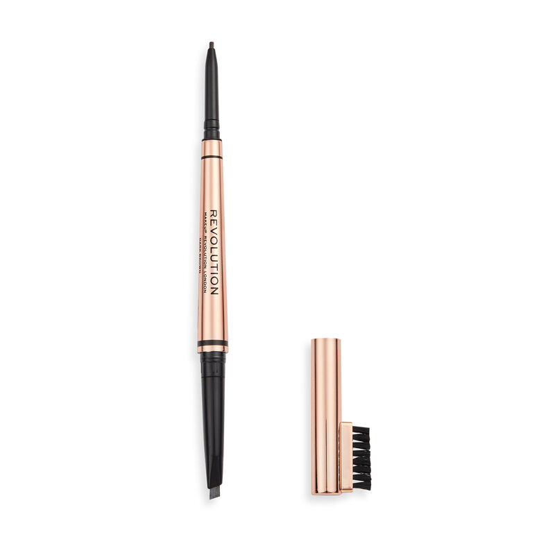 Makeup Revolution Balayage Duo Brow Pencil Dark Brown