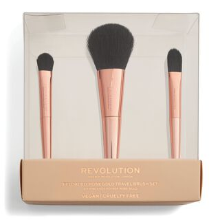 Reloaded Rose Gold Travel Brush Set