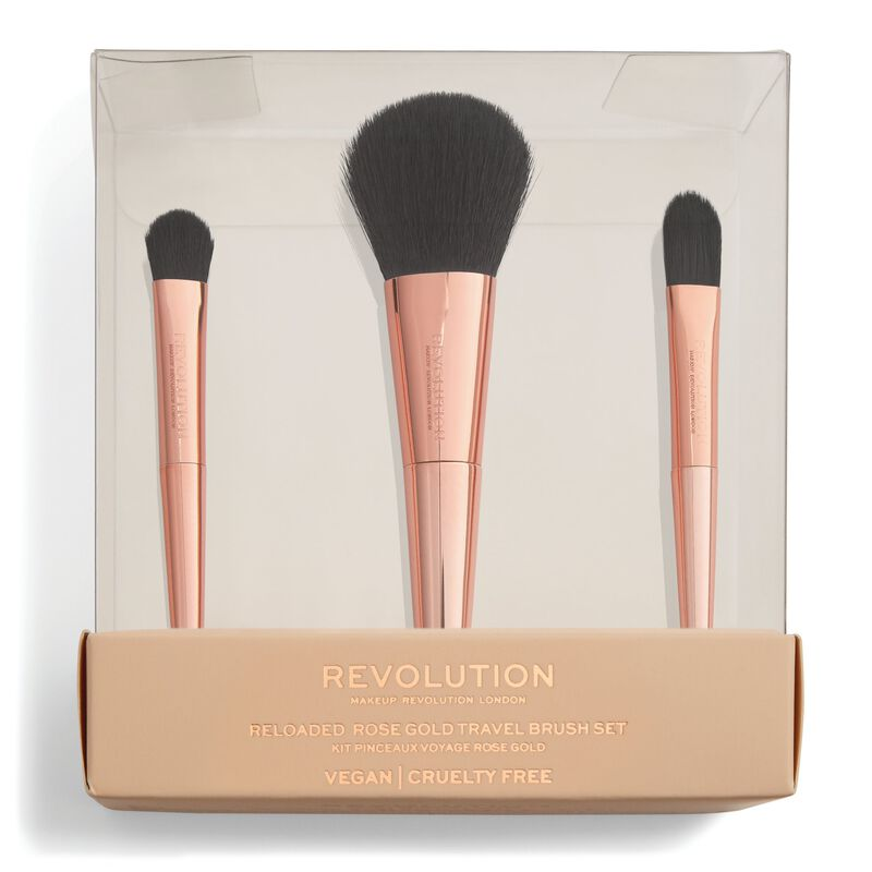 Reloaded Rose Gold Travel Brush Set