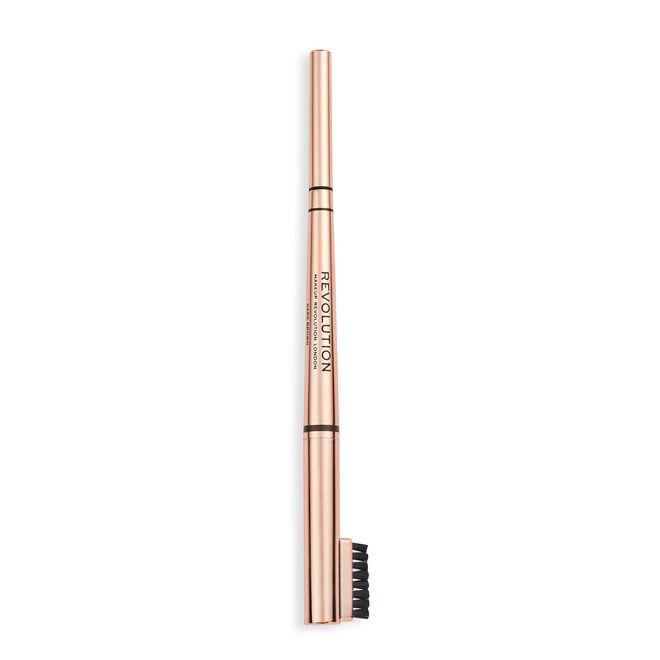 Makeup Revolution Balayage Duo Brow Pencil Dark Brown