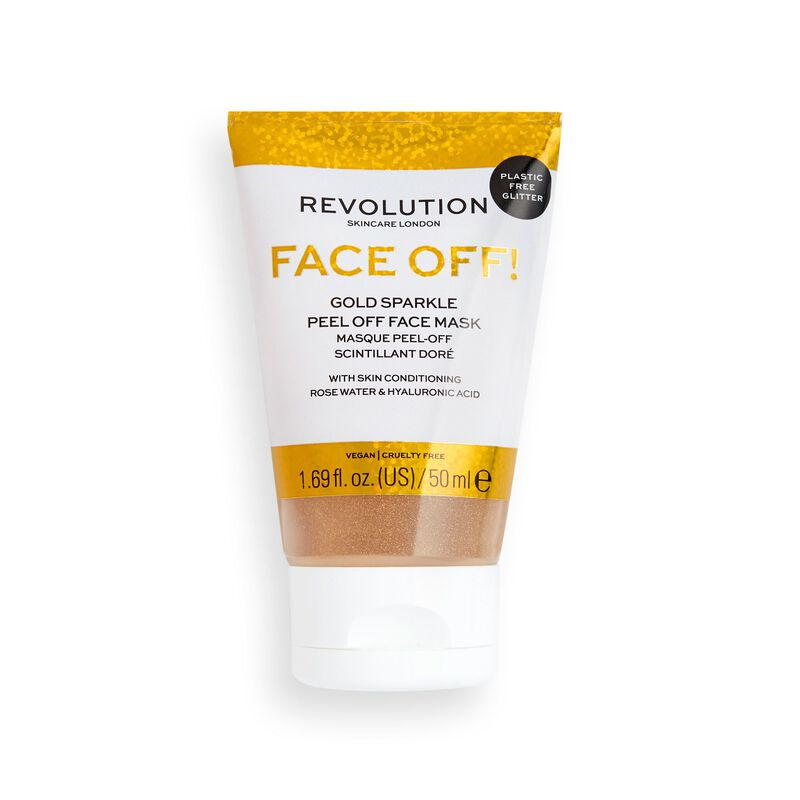 Revolution Skincare Gold Glitter Face Off Mask