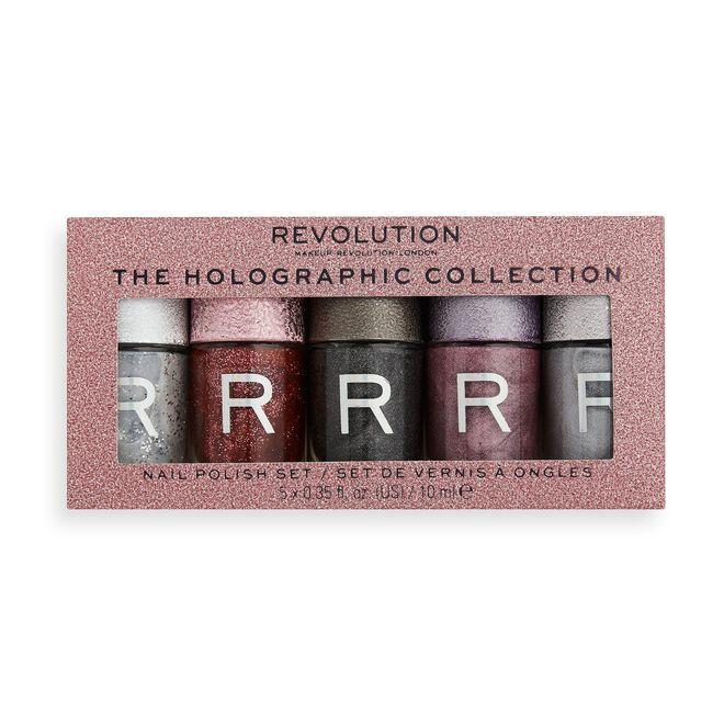 Makeup Revolution Holographic Nail Polish Set