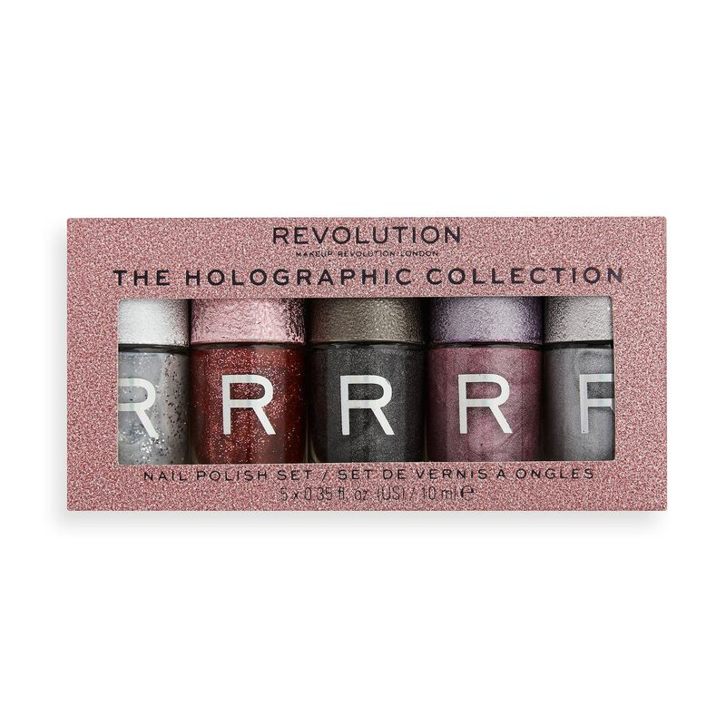 Makeup Revolution Holographic Nail Polish Set