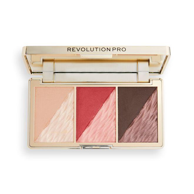 Revolution Pro Crystal Luxe Face Palette Berry Flush